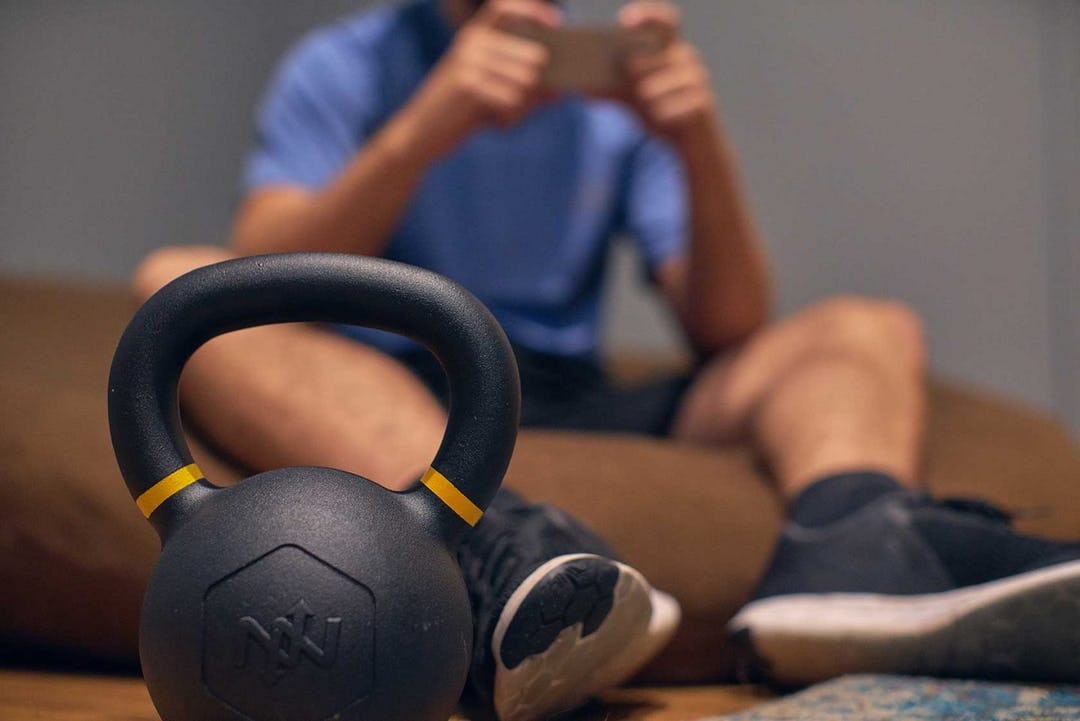 At-Home Workout One Kettlebell Hell Exercise