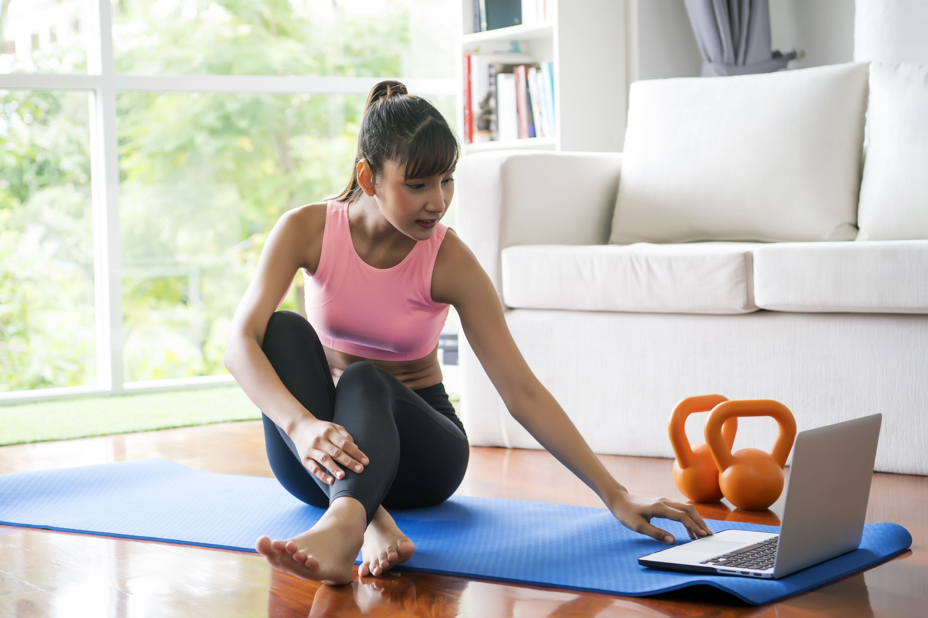 At-Home Workout Buns and Guns Exercise